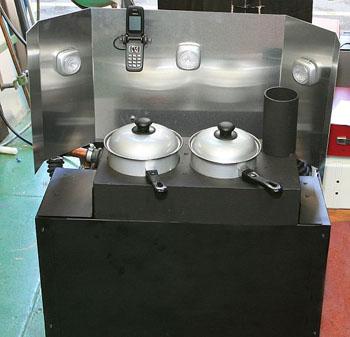 Bếp lò đa năng kiêm tủ lạnh, máy phát điện